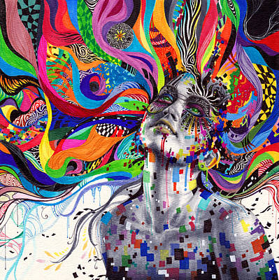 Psychedelic Mixed Media - Stargaze by Callie Fink