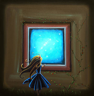 Illustrative Painting - Stargazer by Cindy Thornton