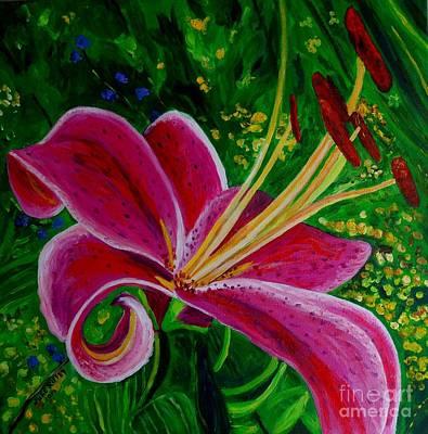 Painting - Stargazer Lily by Julie Brugh Riffey