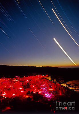 Amateur Astronomy Photograph - Stargazers And Star Trails by Babak Tafreshi