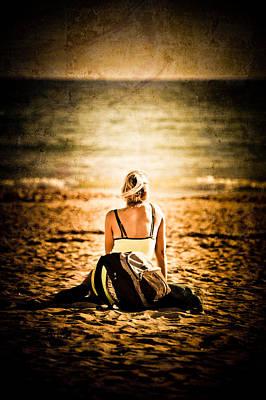 Staring At The Horizon Art Print by Loriental Photography