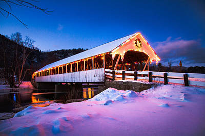 Photograph - Stark Covered Bridge by Robert Clifford