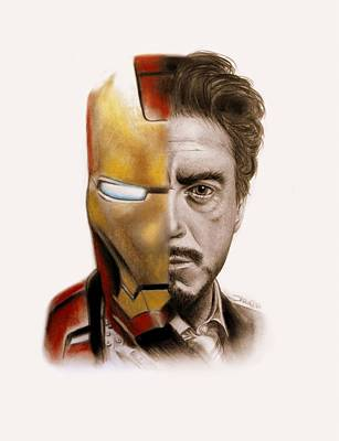Red Drawing - Stark  by Sheena Pike