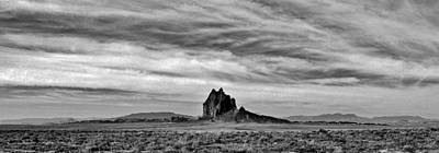 Photograph - Stark Shiprock by Benjamin Yeager