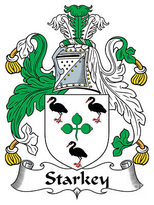 Starkey Digital Art - Starkey Coat Of Arms Irish by Heraldry