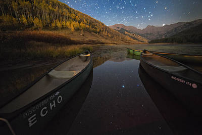 Gore Range Photograph - Starlight Discovery At Piney Lake by Mike Berenson