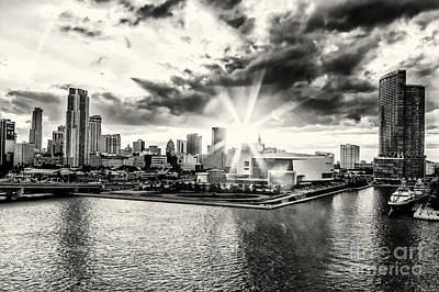 Photograph - Starlight Over The American Airlines Arena by Rene Triay Photography