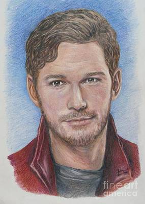 Drawing - Starlord / Peter Quill / Chris Pratt by Christine Jepsen