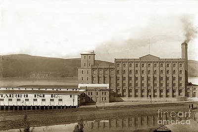 Photograph - Starr And Co. Flour Mill At Crockett The South Shore Of Carquinez Strait California Circa 1887 by California Views Mr Pat Hathaway Archives