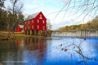 Rural Scenes Photograph - Starrs Mill On Whitewater Creek by Barbara Bowen