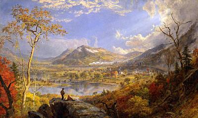 Jasper Cropsey Painting - Starrucca Viaduct. Pennsylvania by Jasper Francis Cropsey
