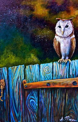 Painting - Starry Barn Owl by Sebastian Pierre