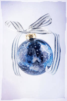 Christmas Ornament With Stars Art Print