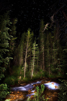 Photograph - Starry Creek by Mark Andrew Thomas