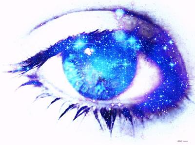 Digital Digital Art - Starry Eyed by Elizabeth McTaggart