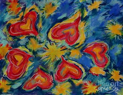 Starry Hearts Art Print by Kelly Athena