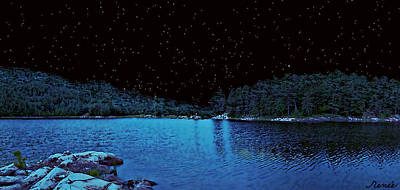 Photograph - Beauty In A Starry Midnight Lake  by Renee Anderson