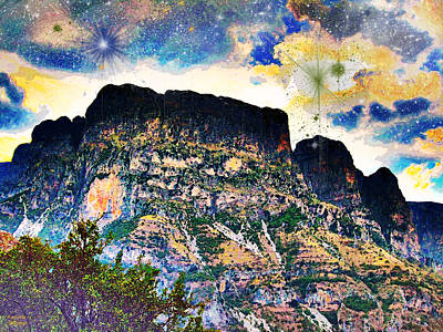 Photograph - Starry Mountain by Augusta Stylianou