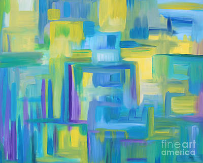 Painting - Starry Night Abstract by Stacey Zimmerman