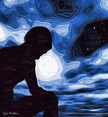 Depression Painting - Starry Night Depression by Tyler Robbins
