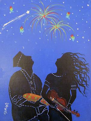 Starry Night Art Print by Gloria E Barreto-Rodriguez