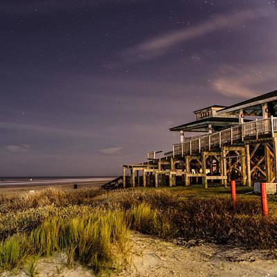 Photograph - Starry Night In Galveston Bay by Silvio Ligutti
