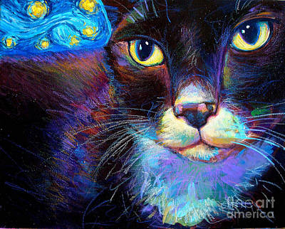 Art Print featuring the painting Starry Night Jack by Robert Phelps