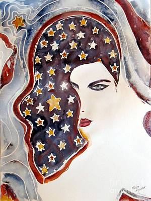 Painting - Starry Night by Mona Mansour Jandali