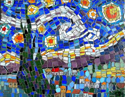 Photograph - Starry Night Mosaic by Lou Ann Bagnall