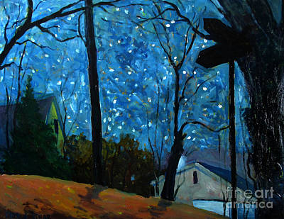 Starry Night On Gimball Street Original by Charlie Spear