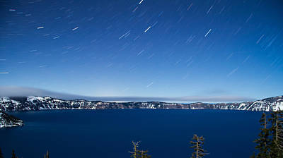Photograph - Starry Night Over Crater Lake by Kunal Mehra