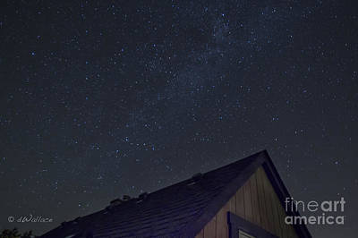 Photograph - Starry Night Over The Cabin by D Wallace
