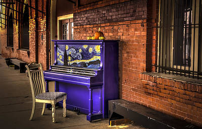 Photograph - Starry Night Piano by David Morefield