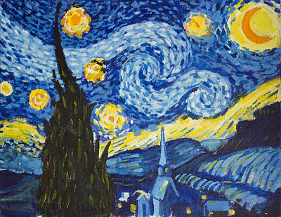 Painting - Starry Night by Richard Fritz