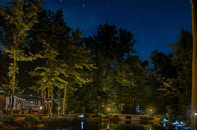 Photograph - Starry Night - Summers End by Gene Sherrill