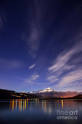 Mountain Rights Managed Images - Starry night Royalty-Free Image by Yuri San