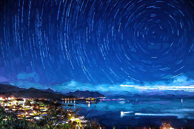Photograph - Starry Nighttrails by Dan McManus
