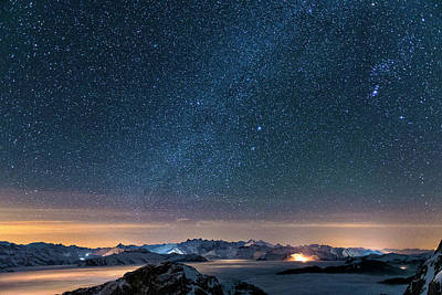 Photograph - Starry Sky On The Pilatus by Phil