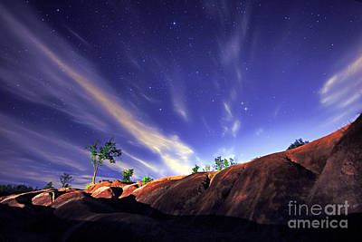 Photograph - Starry Sky Over Badlands by Charline Xia