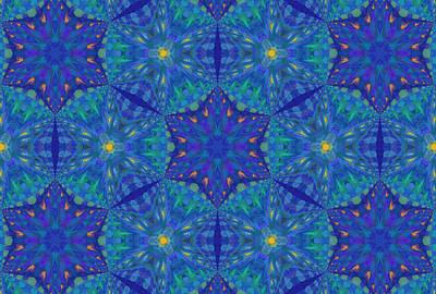 Decorating Mixed Media - Starry Starry Night Abstract by Georgiana Romanovna