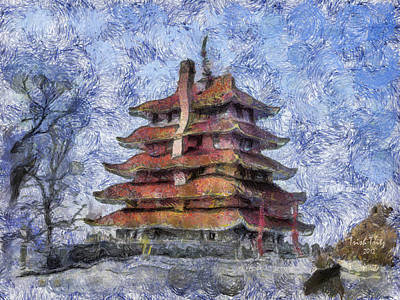 Photograph - Starry Starry Pagoda Night by Trish Tritz