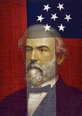 Stars And Bars General Lee Art Print by Daniel Hagerman