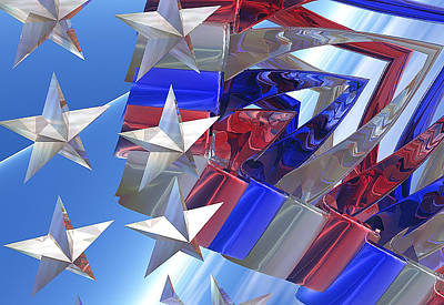 Stars And Stripes 2 Art Print by Digital  Hiccup
