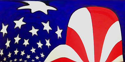 Digital Art - Stars And Stripes by Ernie Echols
