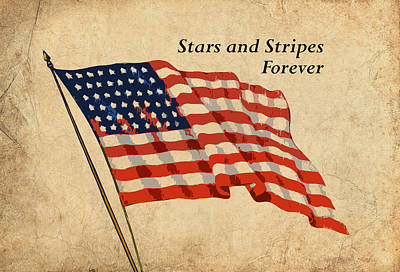 Patriotic Digital Art - Stars And Stripes Forever by God and Country Prints