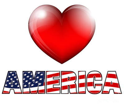 Election Day Digital Art - Love America by Fenton Wylam
