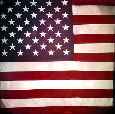 Stars And Stripes Art Print by Les Cunliffe