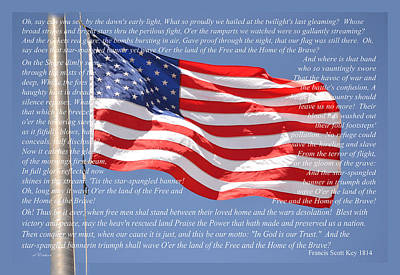Photograph - Stars And Stripes - National Anthem by rd Erickson