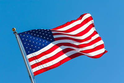 Photograph - Stars And Stripes Waving by Ed Gleichman