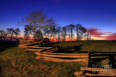 Split Rail Fence Photograph - Stars At Sunrise On The Blue Ridge by Dan Carmichael